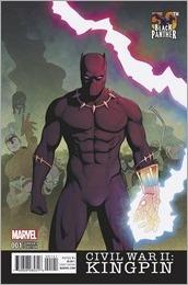Civil War II: Kingpin #1 Cover - McKelvie Black Panther Variant