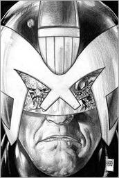 Predator vs. Judge Dredd vs. Aliens #1 Cover - Fabry Sketch Variant