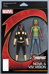 Champions #1 Cover - NOW Action Figure Variant