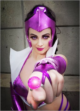 Elena Blueskies Cosplay as Star Sapphire (Photo by Eddie B Photos)