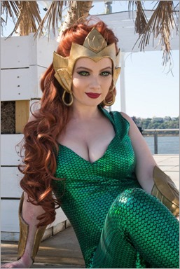 Elena Blueskies Cosplay as Mera (Photo by Eddie B Photos)