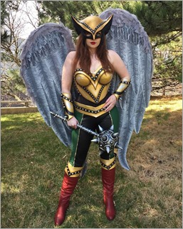 Elena Blueskies Cosplay as Hawkgirl