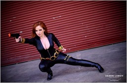 Elena Blueskies Cosplay as Black Widow (Photo by Jason Laboy Photography)