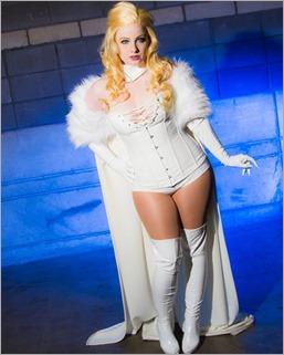 Elena Blueskies Cosplay as Emma Frost (Photo by Cantera Image)