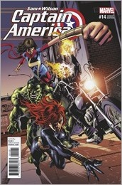 Captain America: Sam Wilson #14 Cover - Deodato Champions Variant