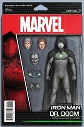 Infamous Iron Man #1 Cover - Christopher Action Figure Variant
