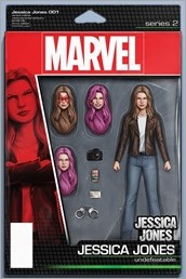 Jessica Jones #1 Cover - Christopher Action Figure Variant