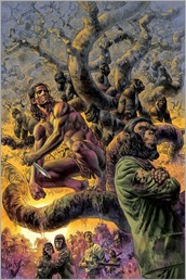 Tarzan On The Planet Of The Apes #1 Cover - No Logo