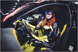Kamiko Zero as Batgirl at the Moscow Auto Tuning Show
