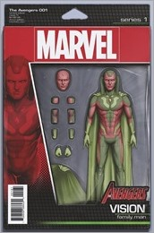 Avengers #1 Cover - Action Figure Variant