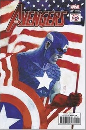 Avengers #1 Cover - Maleev Captain America 75th Anniversary Variant