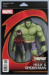 Champions #2 Cover - NOW Action Figure Variant