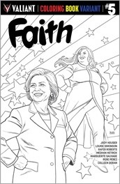 Faith #5 Cover - Rivera Coloring Book Variant