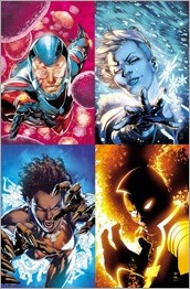 Four Portraits - The Atom, Killer Frost, Vixen, The Ray