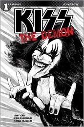 KISS: The Demon #1 Cover E - Strahm Incentive B&W