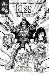 KISS: The Demon #1 Cover F - Mandrake Incentive B&W