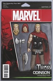 The Unworthy Thor #1 Cover - Action Figure Variant