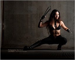 LanaCosplay as X-23 (Photo by Ron Davis)