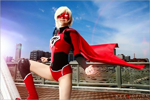 Musable Cosplay as Red Lantern Supergirl (Photo by Affliction Cosplay Photography)