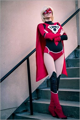 Musable Cosplay as Red Lantern Supergirl (Photo by JND Photography)