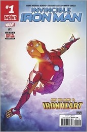 Invincible Iron Man #1 Second Printing Cover