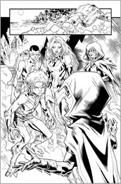 Teen Titans #2 Preview 1 - inks only