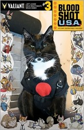Bloodshot U.S.A. #3 Cover - Cat Cosplay Variant