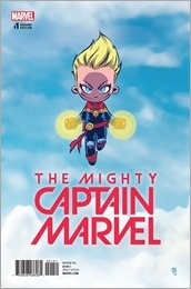 The Mighty Captain Marvel #1 Cover - Young Variant