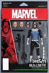 Bullseye #1 Cover - Christopher Action Figure Variant
