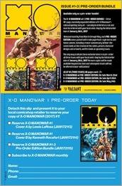 X-O Manowar #1 Preorder Form Flier