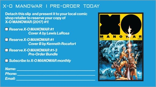 X-O Manowar Preorder Coupon