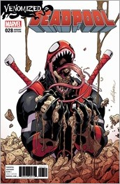 Deadpool #28 Cover - Lopez Venomized Variant
