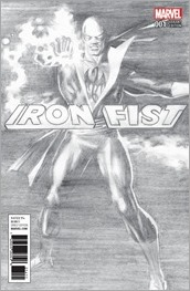 Iron Fist #1 Cover - Ross B&W Variant
