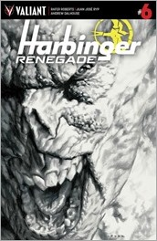 Harbinger Renegade #6 Cover - LaRosa Sketch Variant