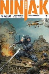 Ninja-K #1 Cover - Rocafort Interlocking Variant