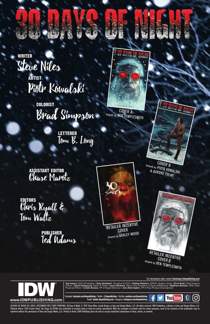 Preview 30 Days Of Night 1 By Niles Kowalski Idw
