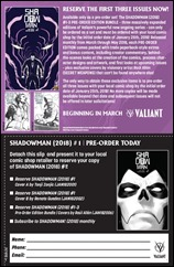 Shadowman #1 Pre-Order Coupon