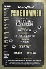Mickey Spillane's Mike Hammer #1 Credits