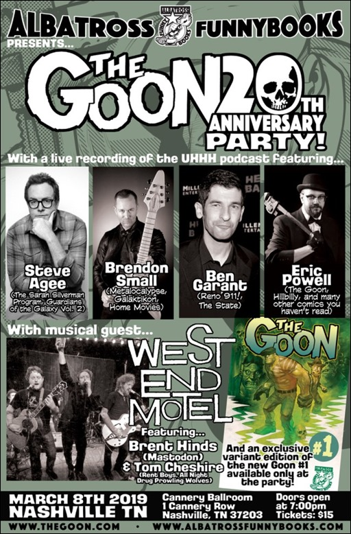 The Goon 20th Anniversary Party Poster