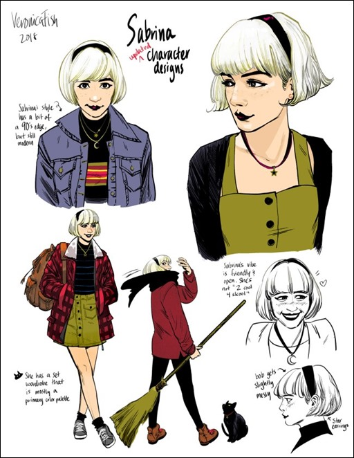 Sabrina The Teenage Witch #1 Sketches