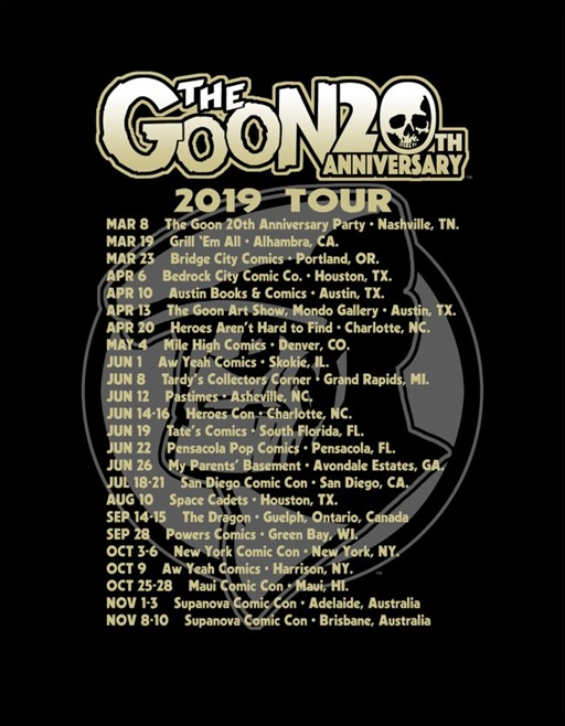 The Goon 20th Anniversary Shirt Back